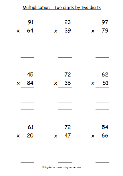 Multiplication and Division - Free resources about multiplying and ...
