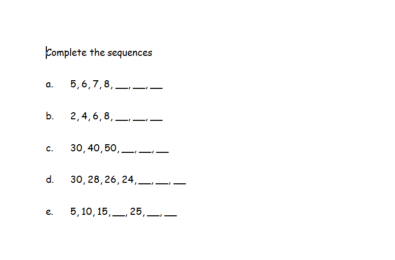 Sequences Free worksheets PowerPoints and other resources for – Free Gcse Maths Worksheets