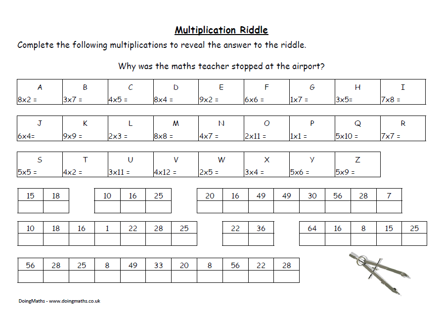 Free Worksheets Library Download and Print Worksheets – Multiplication Puzzle Worksheets