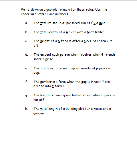 Writing algebraic expressions worksheet. Custom paper Academic ...