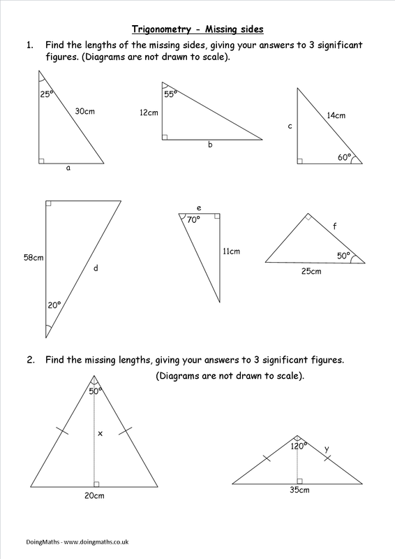 Trigonometry worksheets and PowerPoints - DoingMaths - Free maths ...